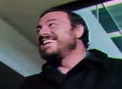 Luciano Pavarotti at O'Hare Airport, September, 1977